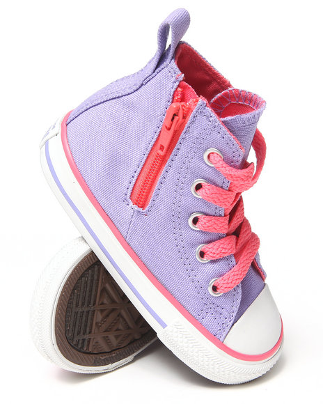 Converse Girls Purple Chuck Taylor All Star Side Zip (5-10)