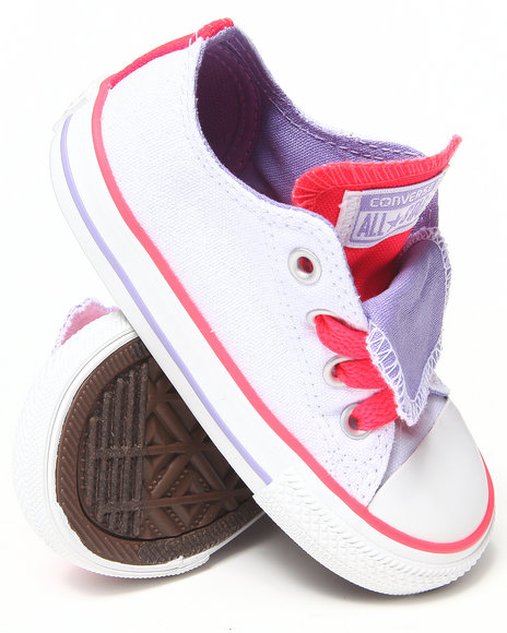 Converse Girls White Chuck Taylor All Star Double Tongue (5-10)
