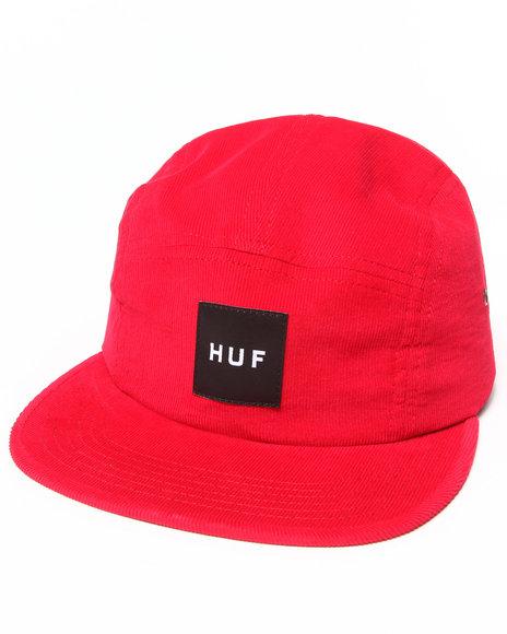 Huf Men Cord Box Volley 5-Panel Cap Red