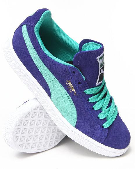 Puma Blue Suede Classic Women's Sneakers