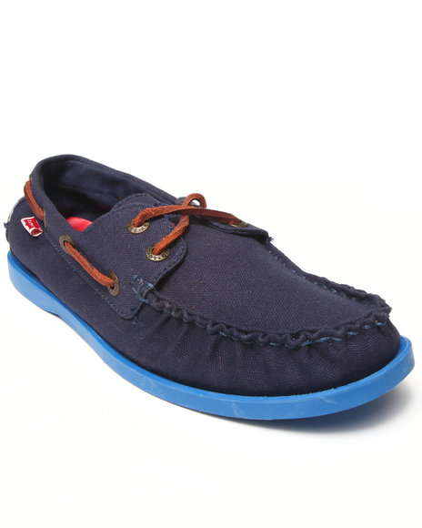 Levi's Navy Parker Energy Boat Shoes
