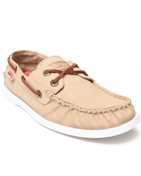 Levi's Khaki Parker Boat Shoes