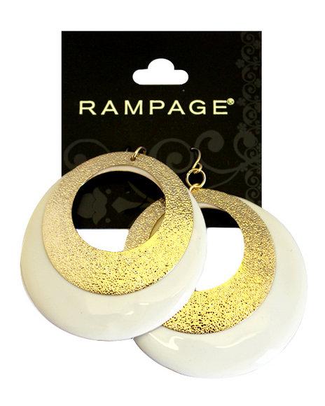 Rampage Mod Moons Circular Duo Earrings Gold