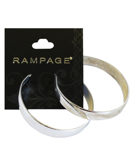 Rampage Women All Around Hoop Earrings Silver - $3.99