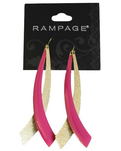 Rampage Women Colorblock Blade Earrings Gold
