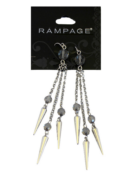 Rampage Women Spikes Chandelier Earrings Silver - $2.99