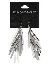 Women - Silver Plated Metal Fringe Earrings