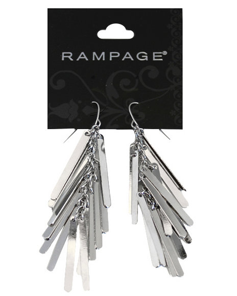Rampage Women Silver Plated Metal Fringe Earrings Silver - $4.99