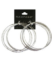 Women - Large Bangle Hoops Earrings