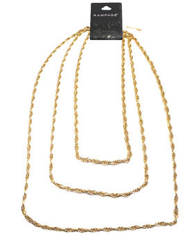 Rampage - Gold Link Layers Necklace