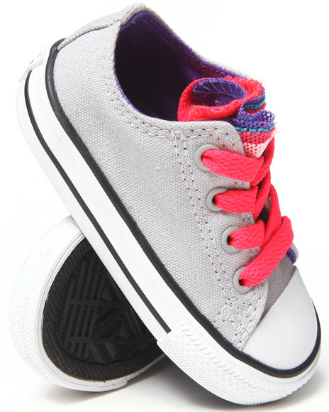 Converse Girls Light Grey Chuck Taylor All Star Party (5-10)