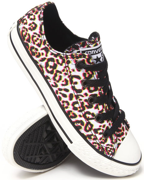 Converse Girls Animal Print Chuck Taylor All Star Lo (11-3)