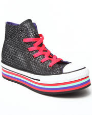 Pre-School (4 yrs+) - Chuck Taylor All Star Zipper Platform (11-6)