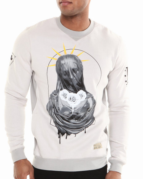 Entree Grey The Madonna Crewneck Sweatshirt