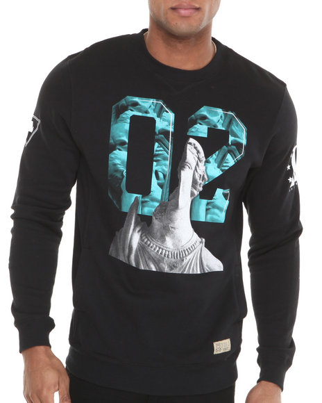 Entree Black Colosseum Crewneck Sweatshirt