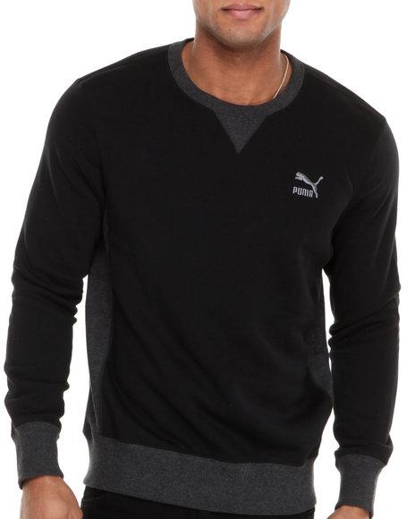 Puma Black Core Crew Neck Sweat Shirt