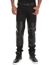 Akademiks - Reventon 08  Faux Leather detail Premium denim Jeans