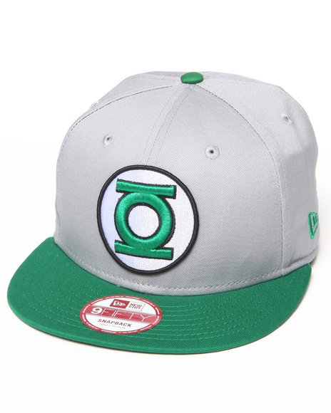 New Era - Men Grey Green Lantern Side Badge 950 Snapback Hat