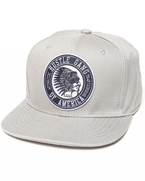 Hustle Gang Overdrive Snapback Cap Grey