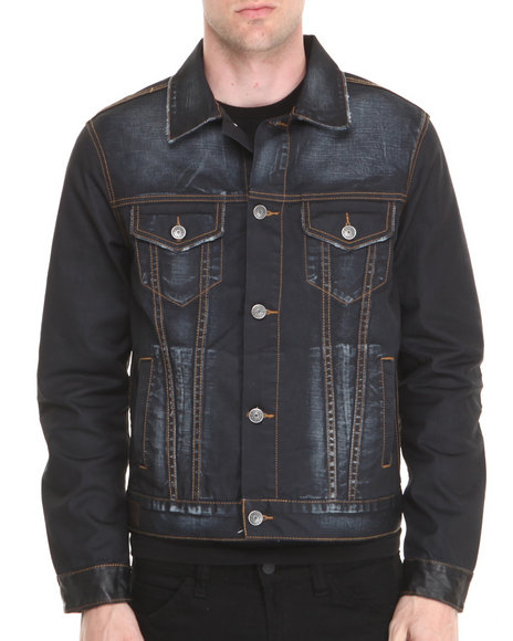 Kilogram - Men Dark Wash Extra Blue Denim Jacket