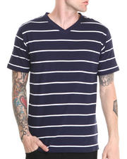Basic Essentials - Vneck Striped Tee