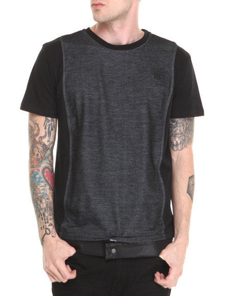 Forte' - Men Black Triad Contrast - Panel S/S Tee
