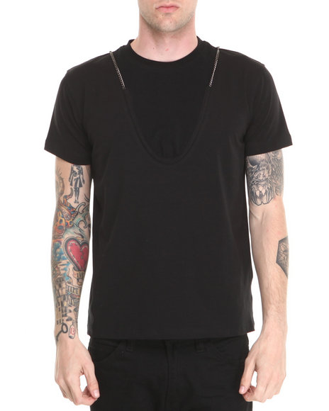 Forte' - Men Black Chain S/S Tee