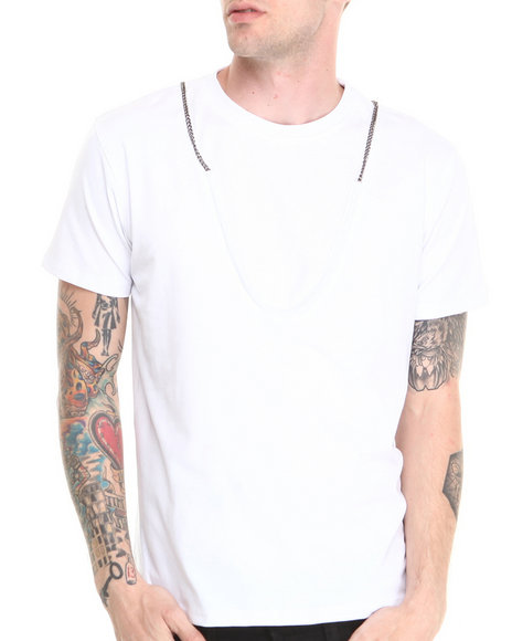 Forte' - Men White Chain S/S Tee - $24.99