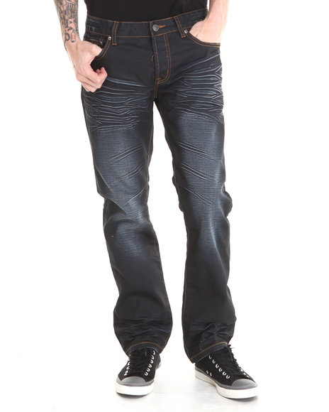 Kilogram - Men Dark Wash Extra Blue Denim Jeans