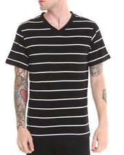 Basic Essentials - V-neck Striped Tee