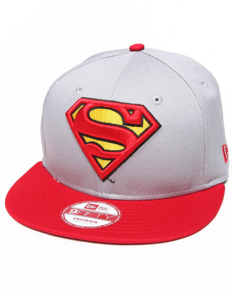 New Era Grey Superman Side Badge 950 Snapback Hat