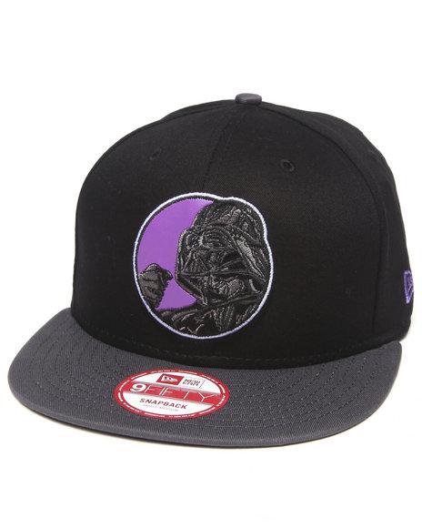 New Era - Men Black Darth Vader Retro Circle 950 Snapback Hat - $26.00