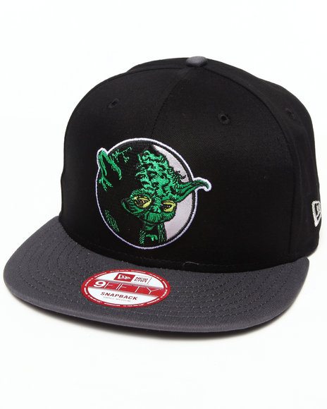 New Era Black Yoda Retro Circle 950 Snapback Hat