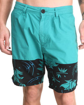 DJP OUTLET - 55DSL Panel Poplin Print Short