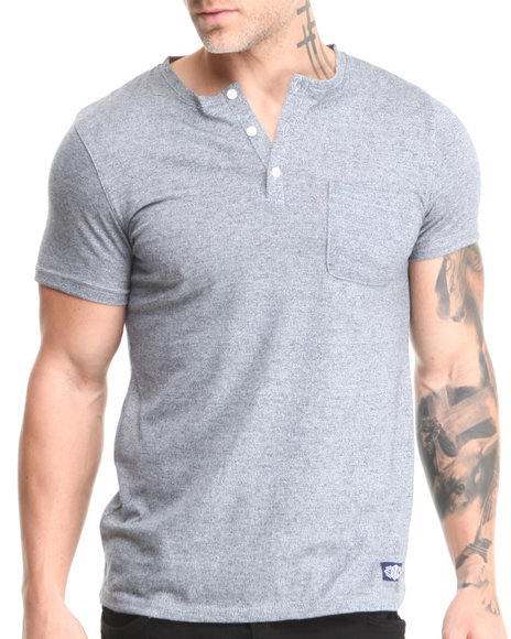Buyers Picks - Men Midnight Short Sleeve Henley W/ Front Pocket - $19.99