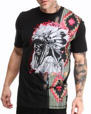 Shirts - Native Engineered Print S/S Tee W/ Applique