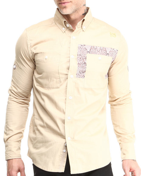 Sabit Beige Nine L/S Button-Down