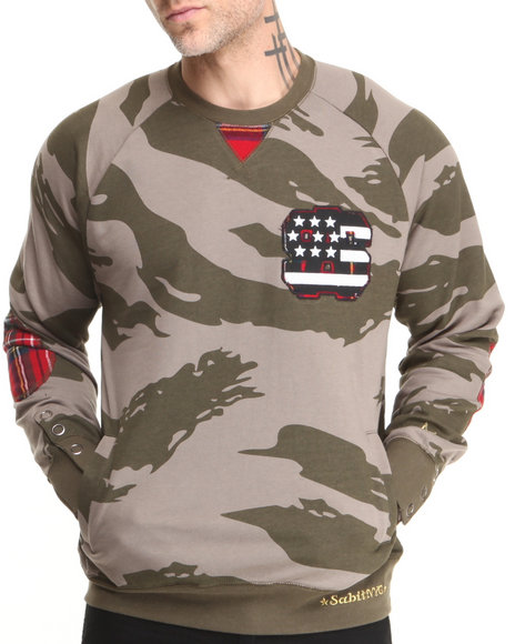 Sabit Camo Hawk Crew Sweatshirt