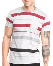 Buyers Picks - Marl Striped Pocket Crew Neck Tee