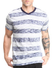Buyers Picks - Reverse Stripe Slub V-Neck Tee