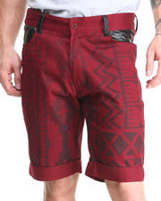 Buyers Picks - Aztec Print with Vegan Leather Chino Shorts