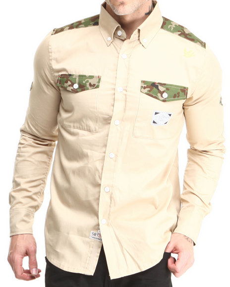 Sabit Beige Hummer L/S Button-Down
