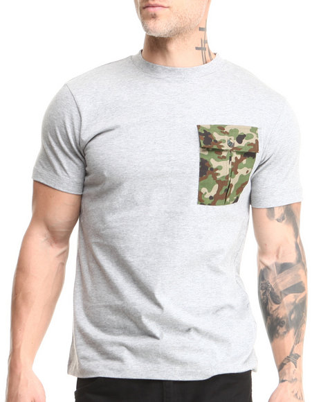 Sabit Grey Pocket T-Shirt