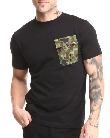 Sabit - Men Black Pocket T-Shirt