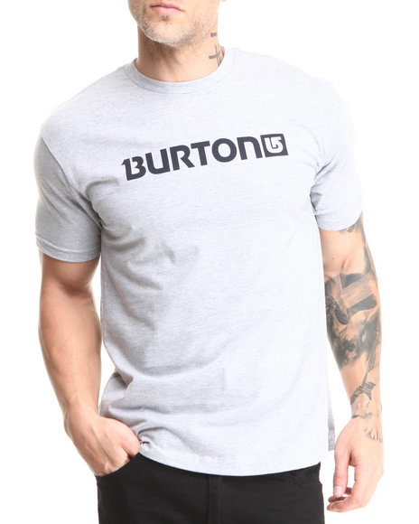 Burton Grey Logo Horizontal Tee