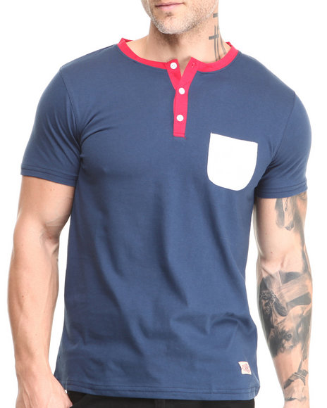 Buyers Picks - Men Midnight Short Sleeve Pocket Henley - $17.99