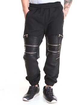 Rolling Paper - PU Zipper Fleece Sweat Pant