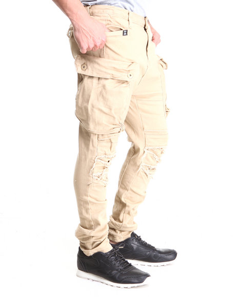 Forte' Khaki I Pad Cargo Pants