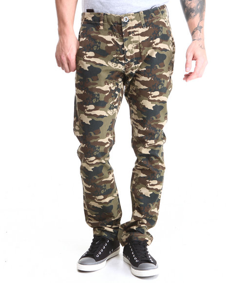 Volcom - Men Camo Facted Slim Straight Fit Pants
