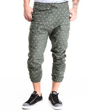 Buyers Picks - Star Pattern Twill Jogger Pants